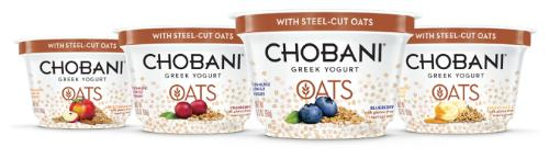 Chobani Greek Yogurt Oats is chilled, hearty and satisfying, with creamy, authentically strained Greek Yogurt mixed with real ripe fruit and whole grain steel-cut oats. (PRNewsFoto/Chobani, LLC)